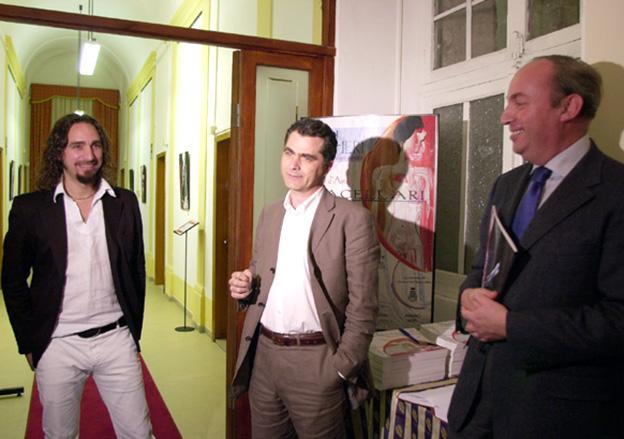 Giordano Macellari - Antonio Santori and Stefano Papetti - exhibition opening Sant'Elpidio a Mare